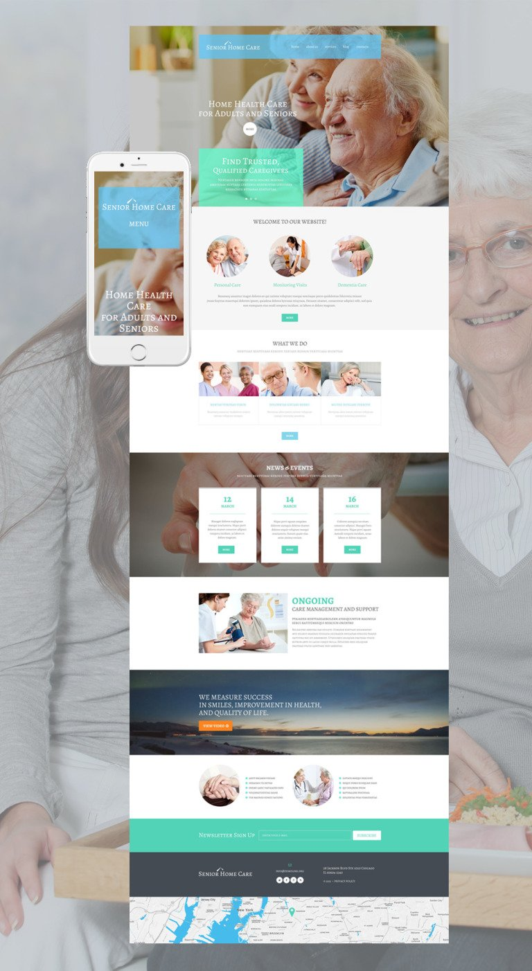 Senior Home Care WordPress Theme New Screenshots BIG