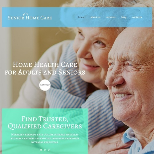 Senior Home Care - WordPress Template based on Bootstrap