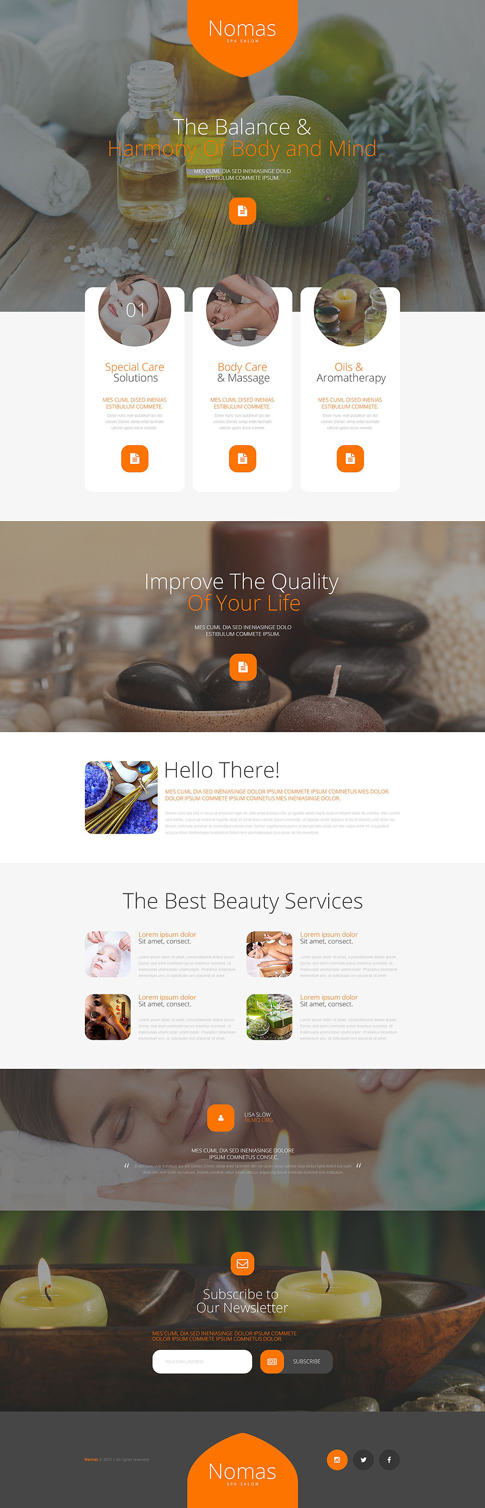 Spa Accessories Responsive Landing Page Template New Screenshots BIG