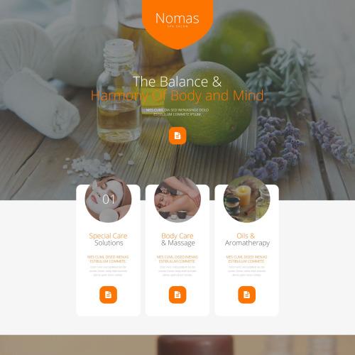 Nomas - Responsive Landing Page Template