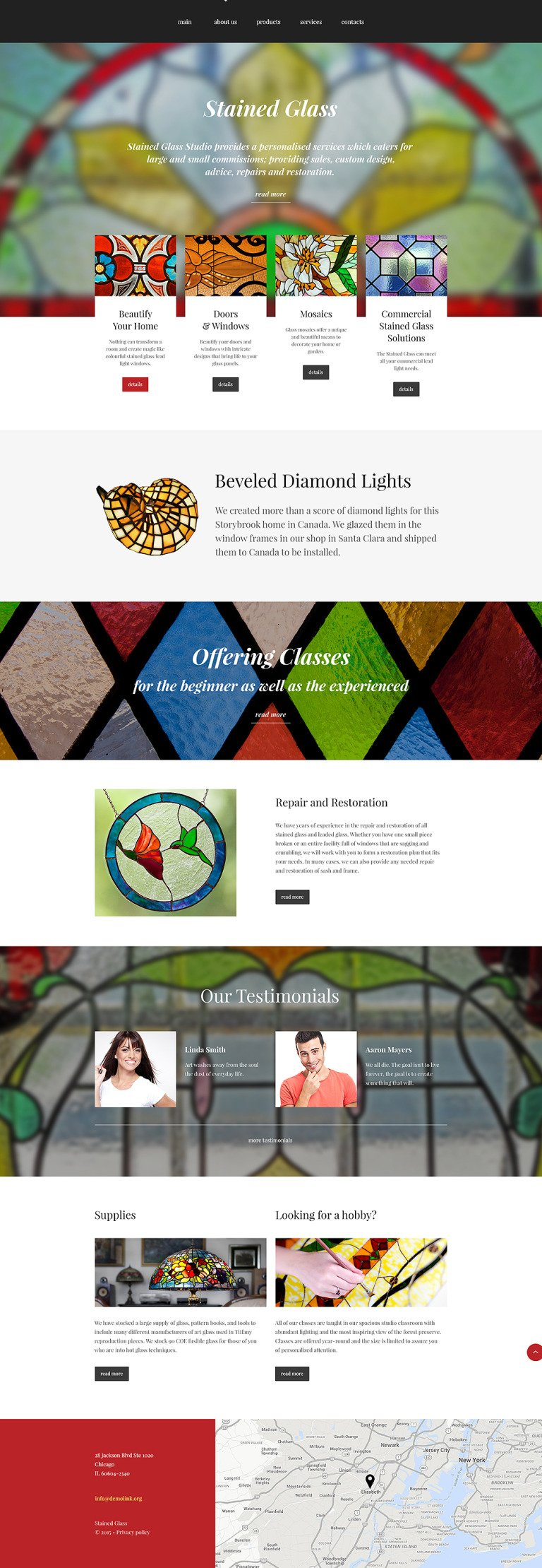 Stained Glass Studio Website Template New Screenshots BIG