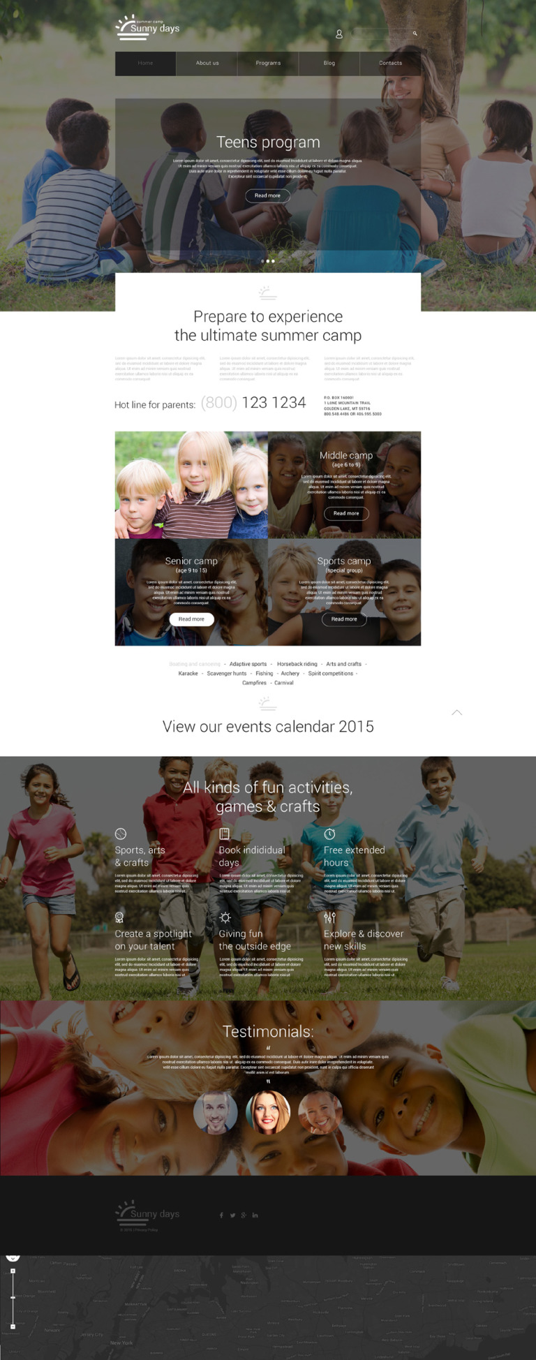 Summer Camp Responsive Joomla Template New Screenshots BIG