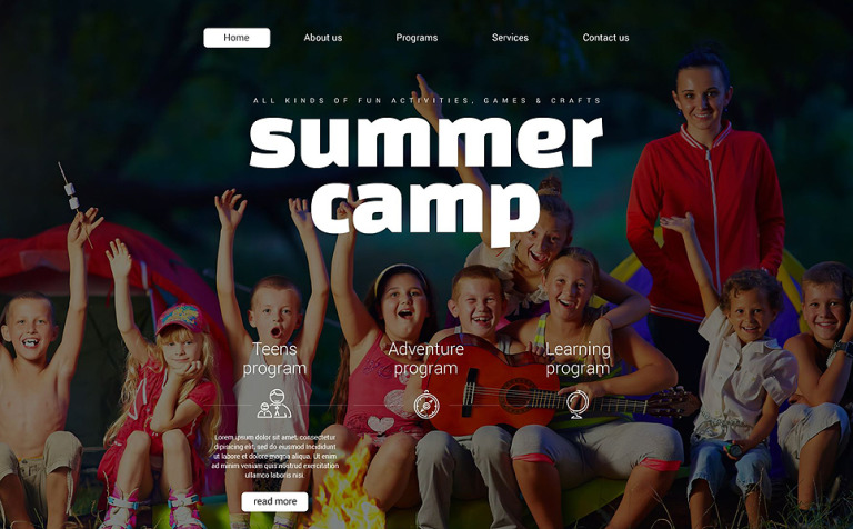 Summer Camp Website Template