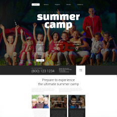 summer camp templates templatemonster