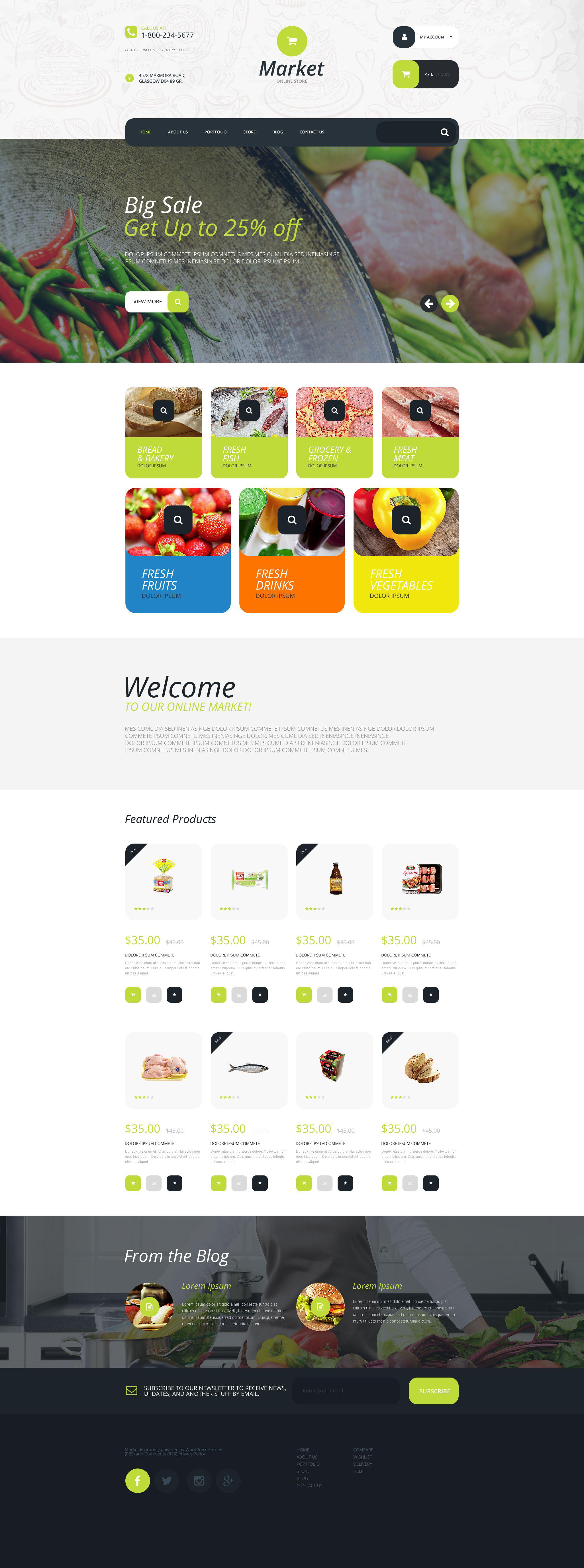 """Supermarket"" - адаптивний WooCommerce шаблон №55204"