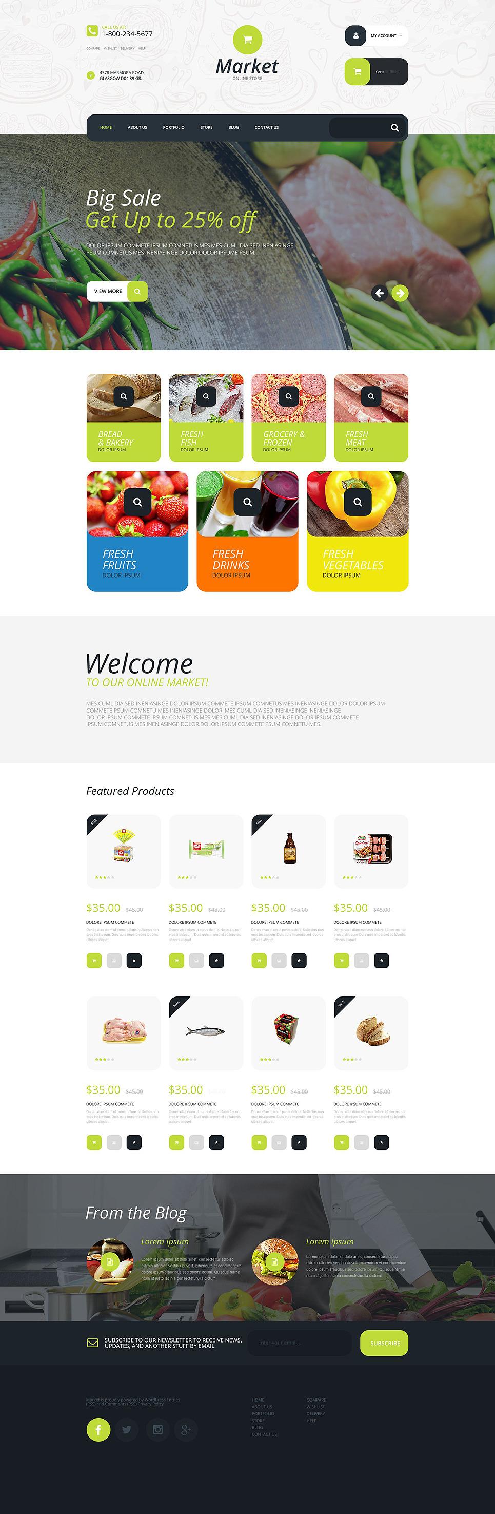 Supermarket WooCommerce Theme New Screenshots BIG