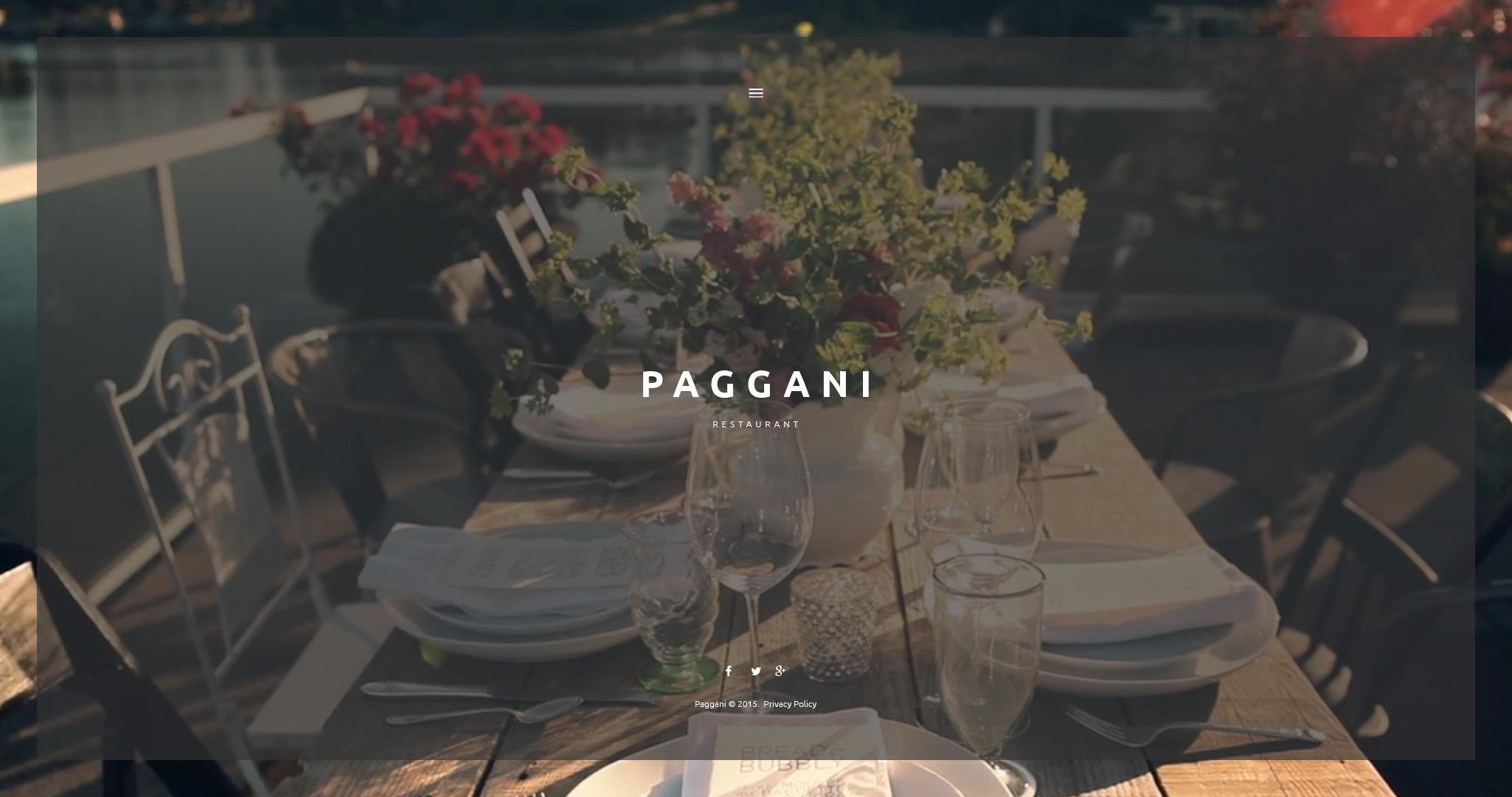 """Tema De WordPress """"Cafetería y Restaurante"""" #55262 - captura de pantalla"""