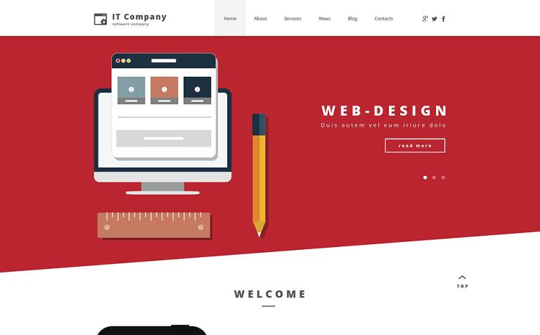 Tema de WordPress #55252 para Sitio de Tecnología de la información