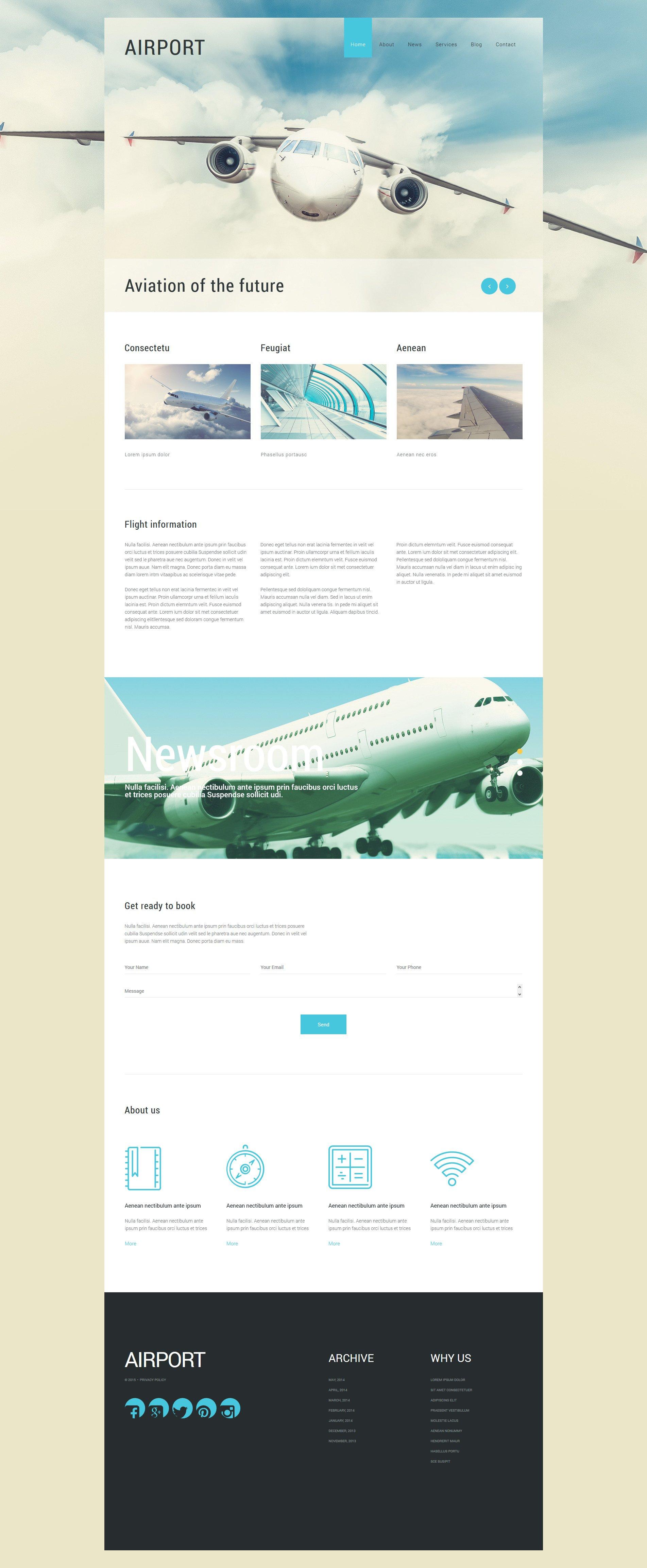 "Tema Joomla Responsive #55272 ""Private Airline"""
