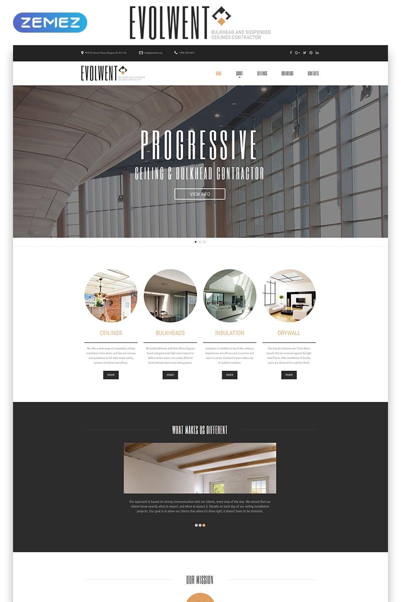 "Tema Siti Web Responsive #55224 ""Evolwent - Interior Design Responsive Modern HTML"" - screenshot"