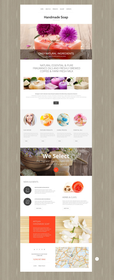 Crafts Responsive Template Siti Web