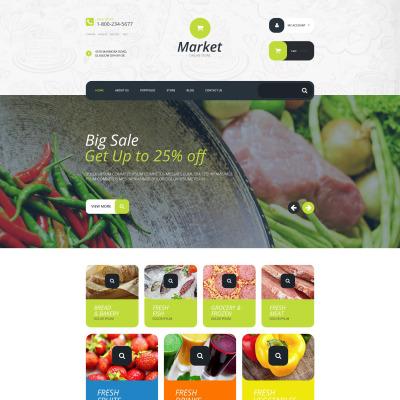 Food Store Responsive Tema WooCommerce