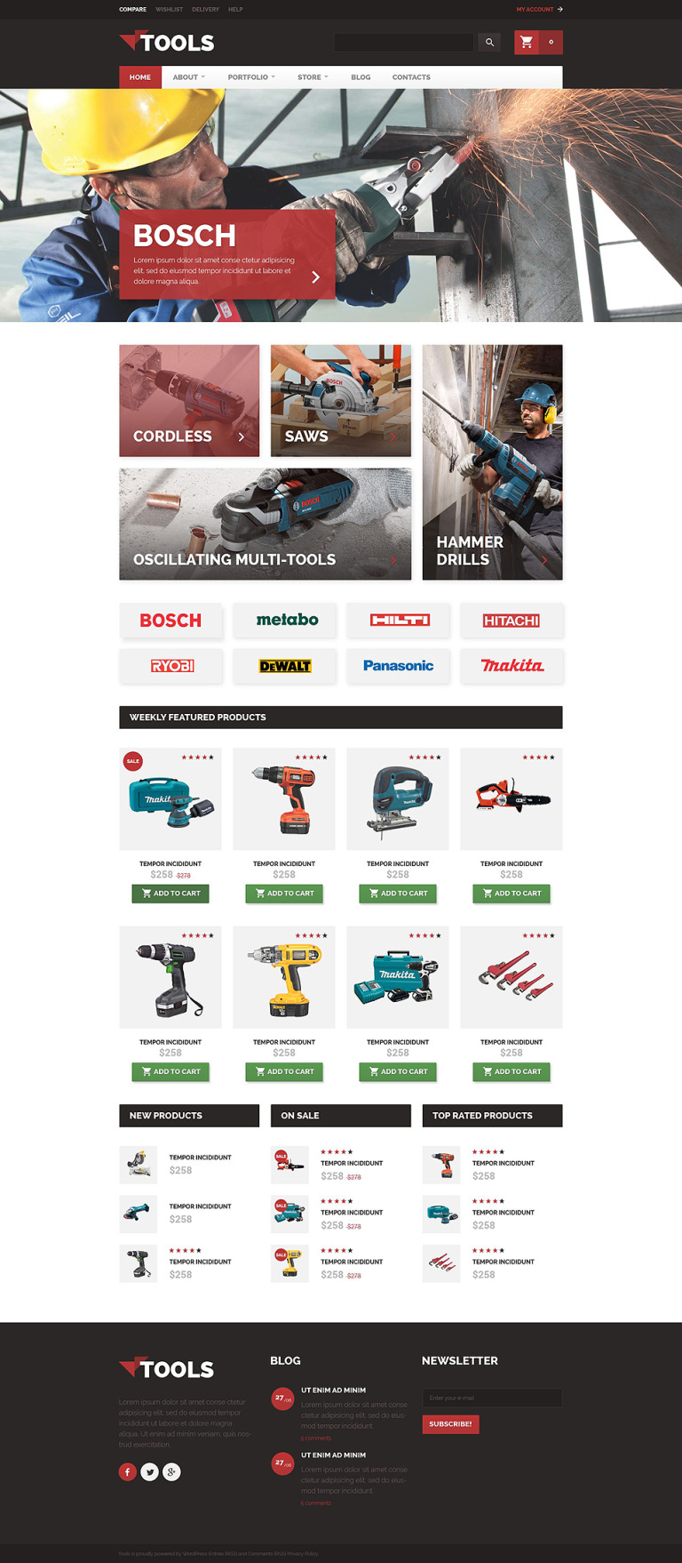 Tools WooCommerce Theme New Screenshots BIG
