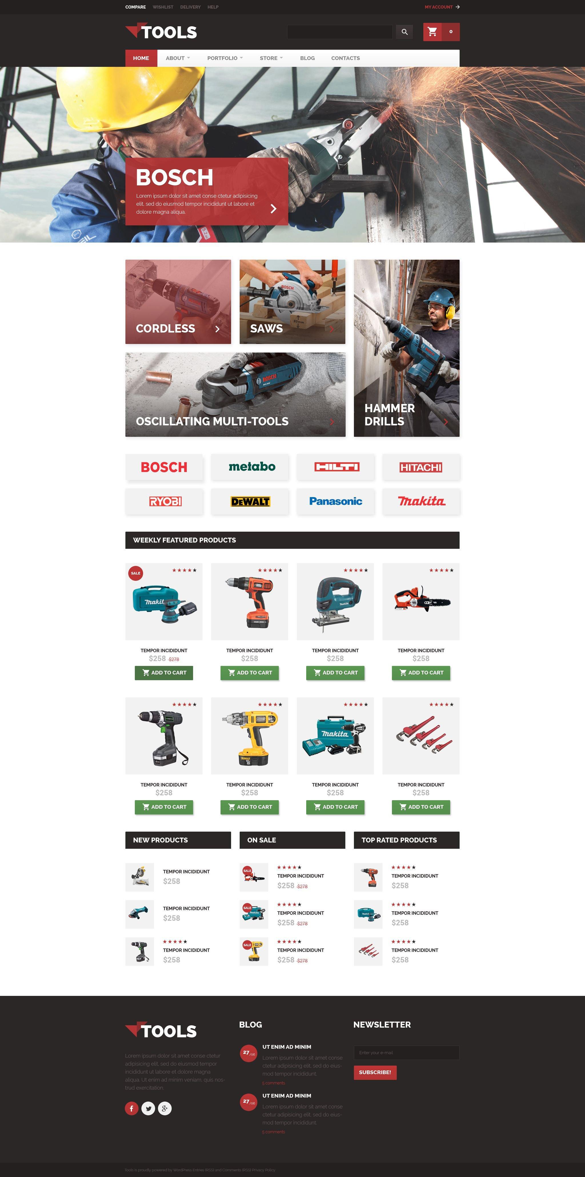 Tools WooCommerce Theme - screenshot