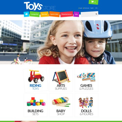 Toys Store - ZenCart Template based on Bootstrap