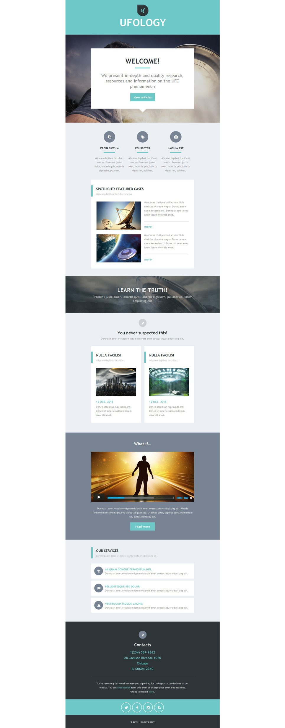 UFO Responsive Newsletter Template New Screenshots BIG
