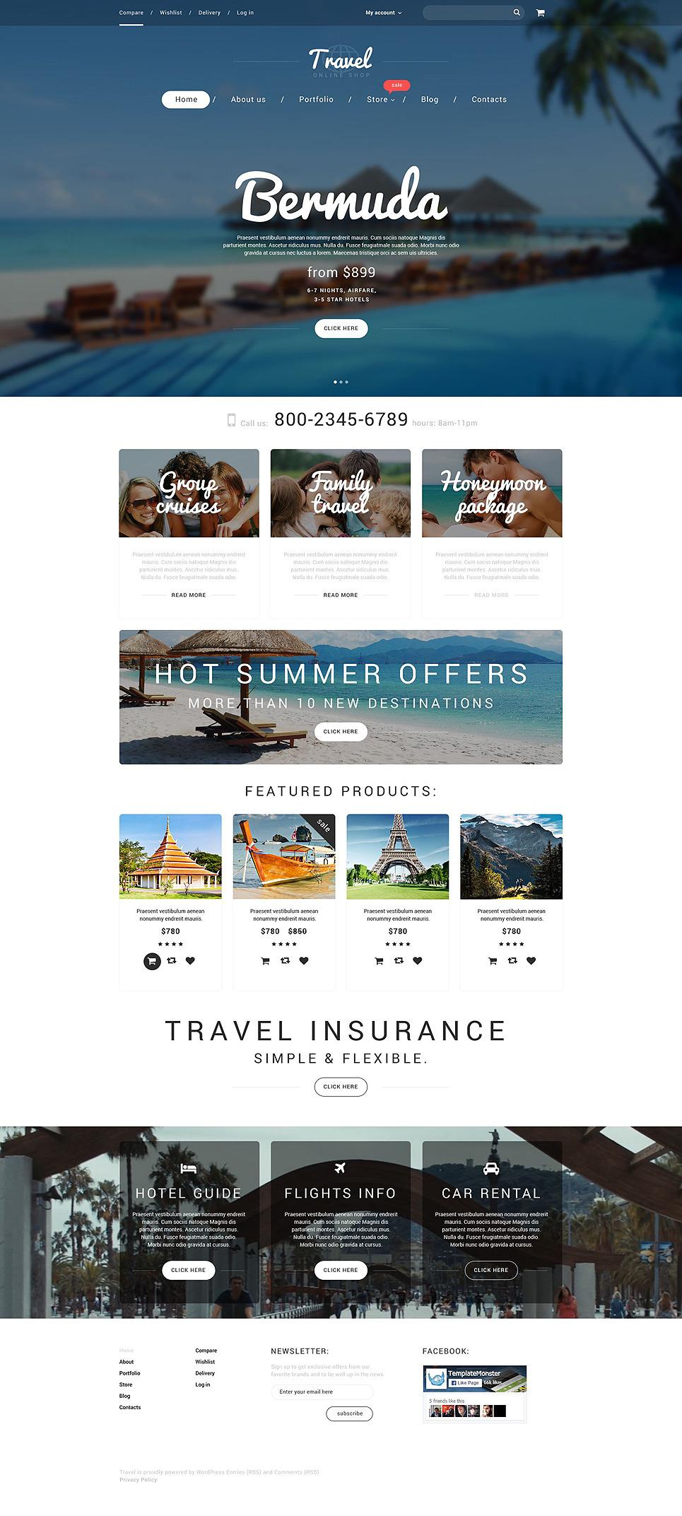 Vacation Agency WooCommerce Theme New Screenshots BIG