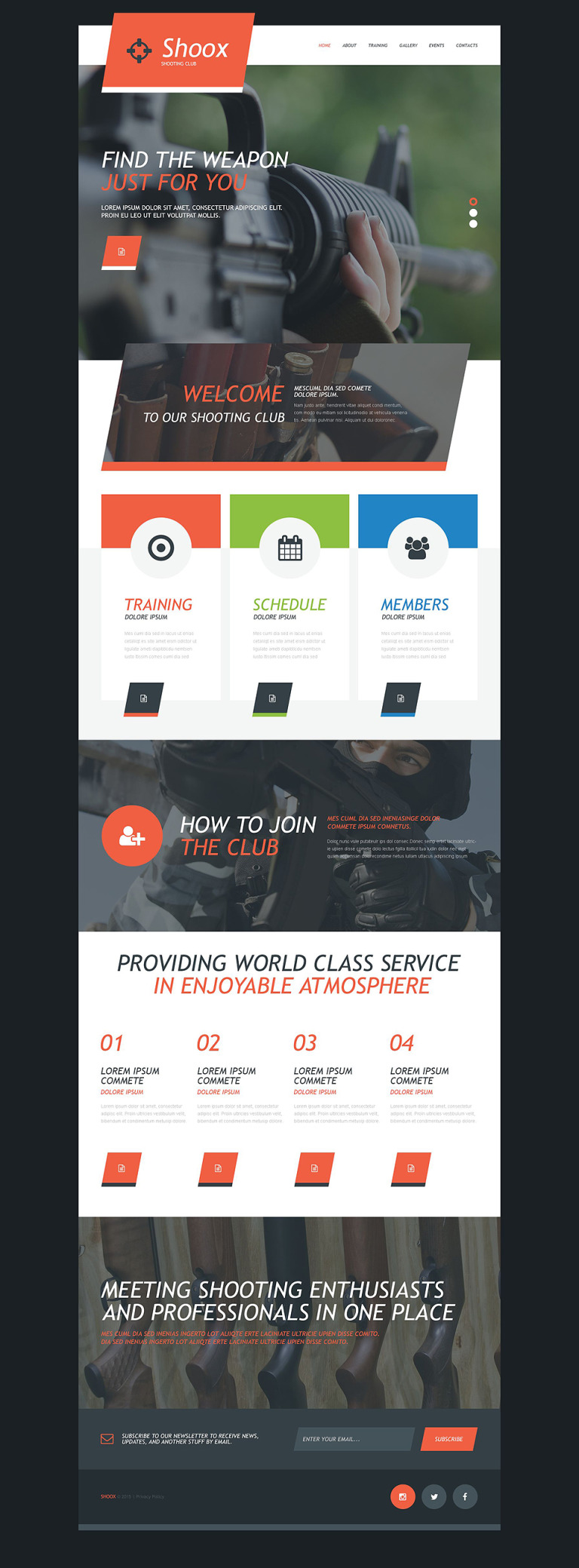 Weapons Store Muse Template New Screenshots BIG