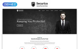 "Website Vorlage namens ""Securico - Security Responsive Modern HTML"""