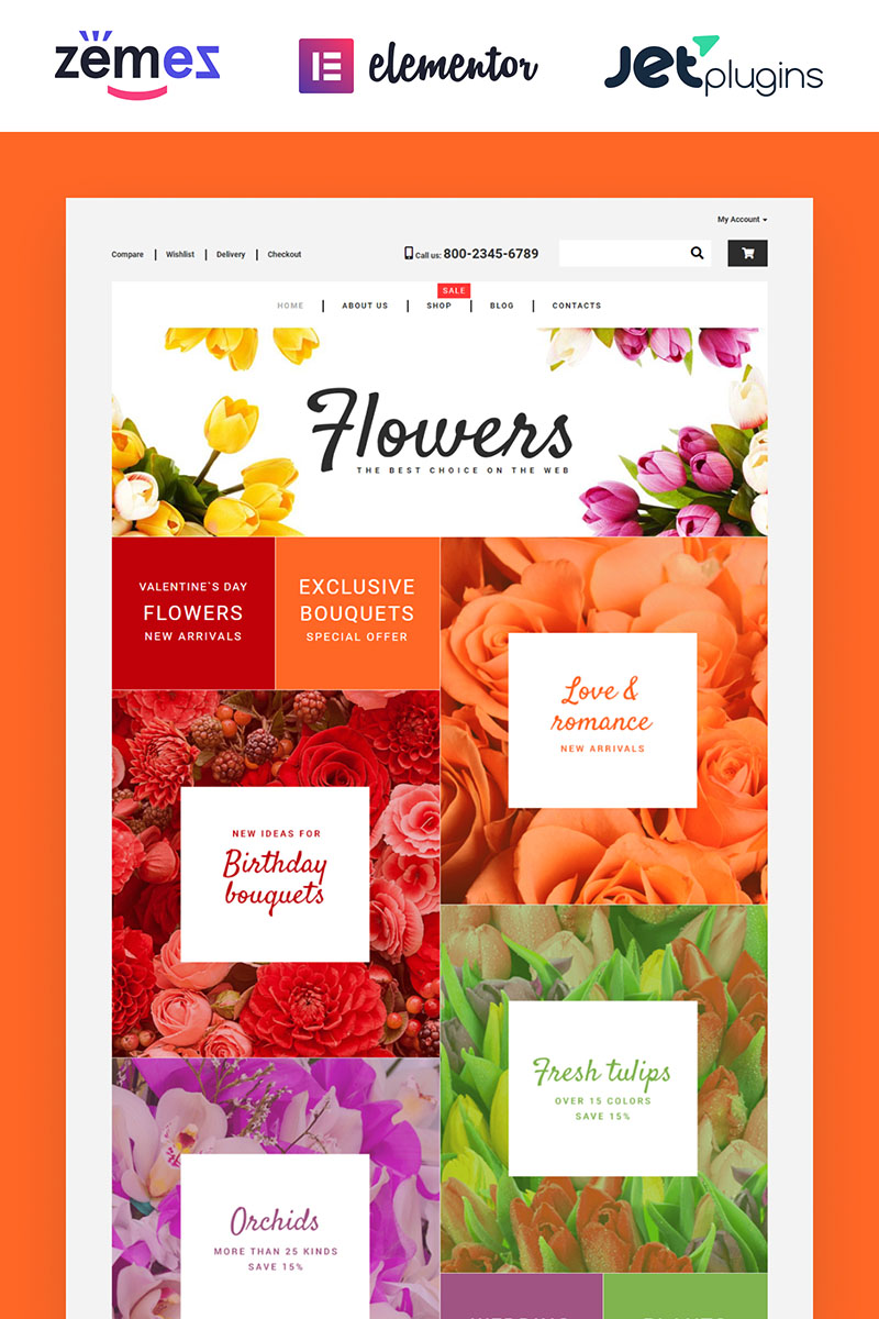 "WooCommerce Theme namens ""Flower Shop"" #55220"