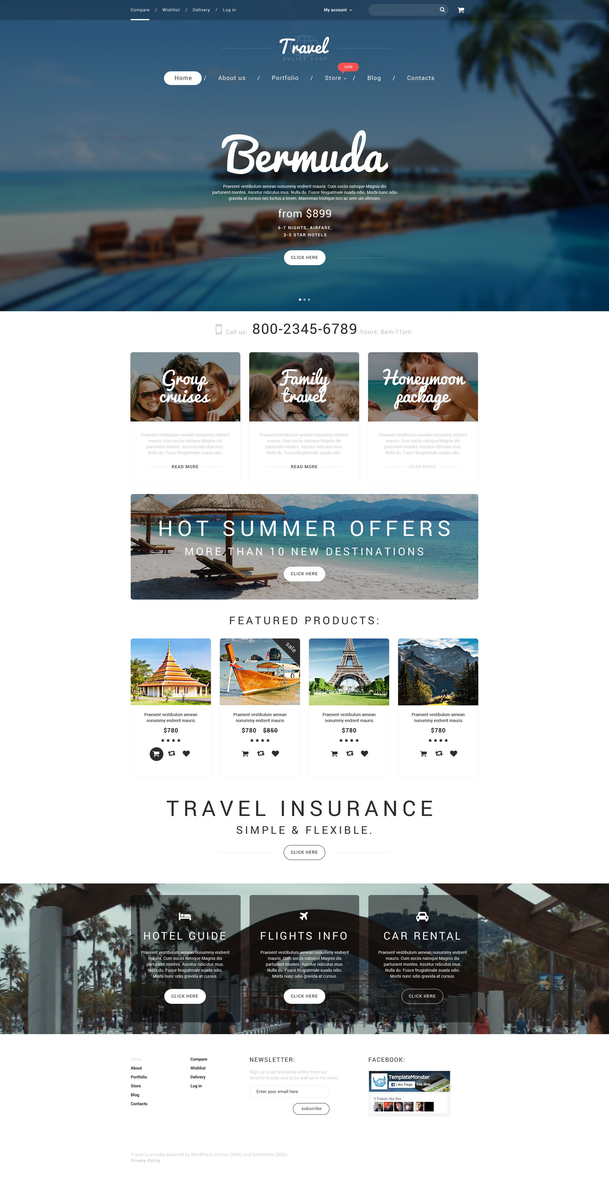 "WooCommerce Theme namens ""Vacation Agency"" #55230"