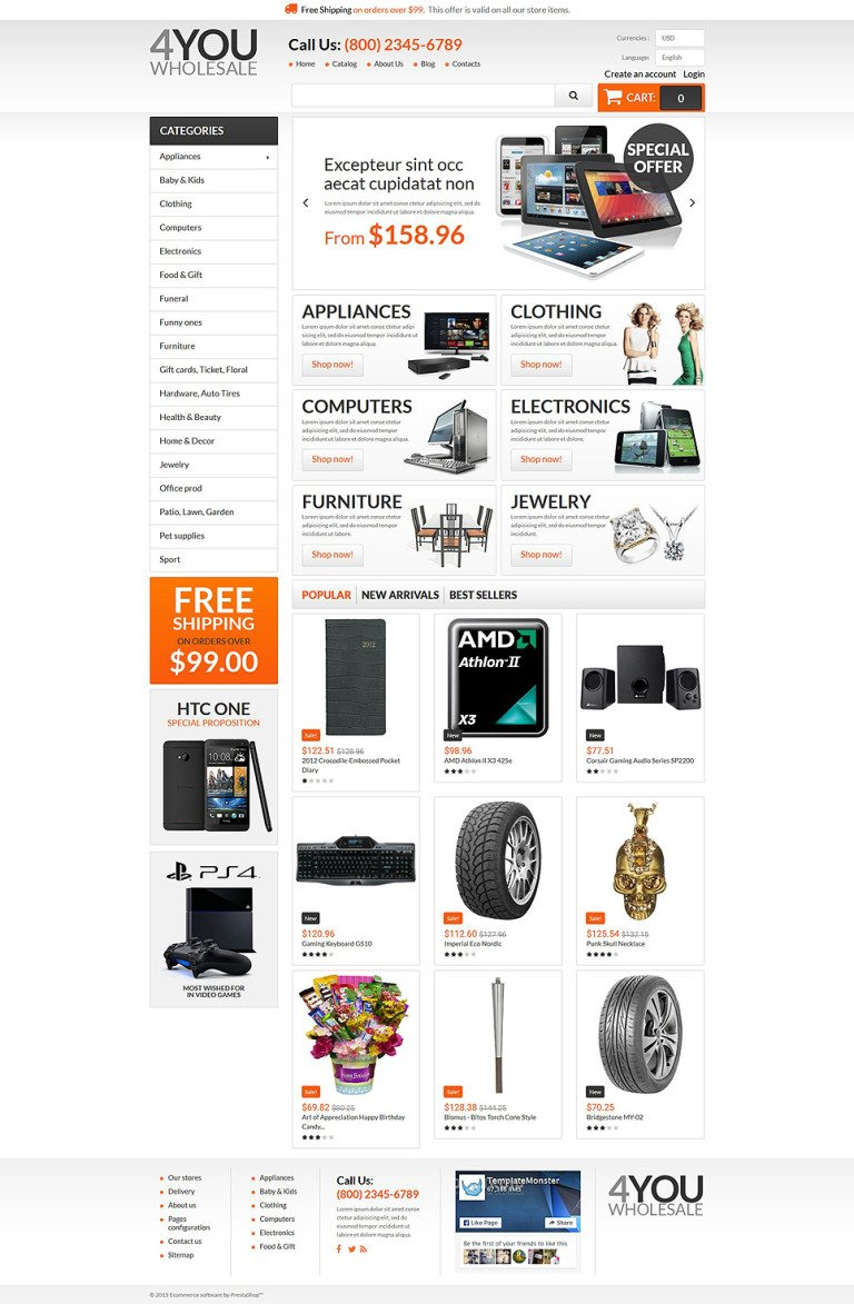 4You Wholesale PrestaShop Theme New Screenshots BIG