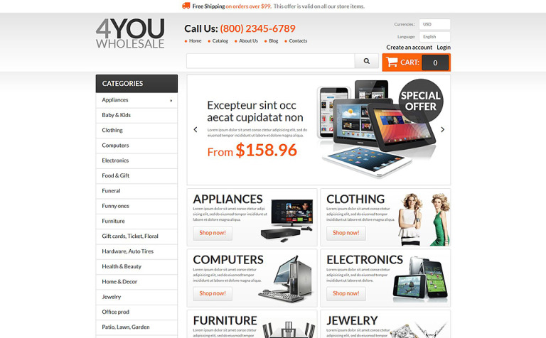 4You Wholesale PrestaShop Theme