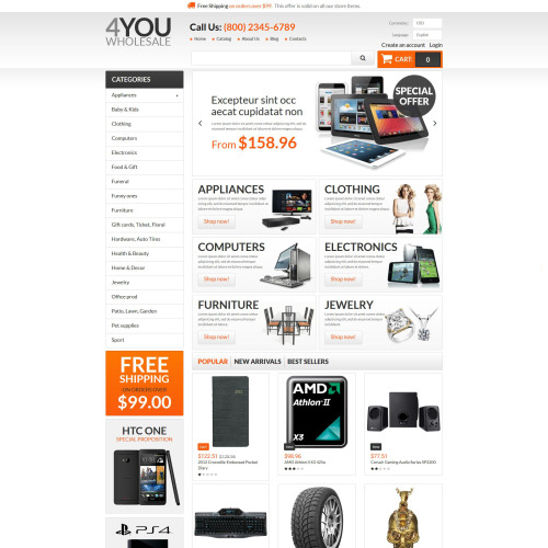 4You Wholesale - PrestaShop Template based on Bootstrap