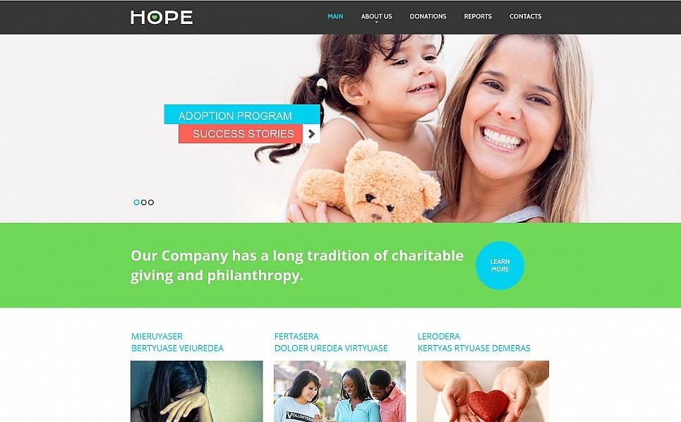 Szablon Moto CMS HTML #55302 na temat: dobroczynność New Screenshots BIG