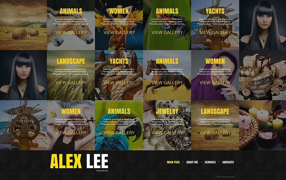 Alex Lee HTML Website Template - image
