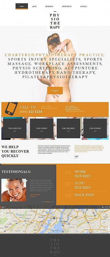 ADOBE Photoshop Template 55306 Home Page Screenshot