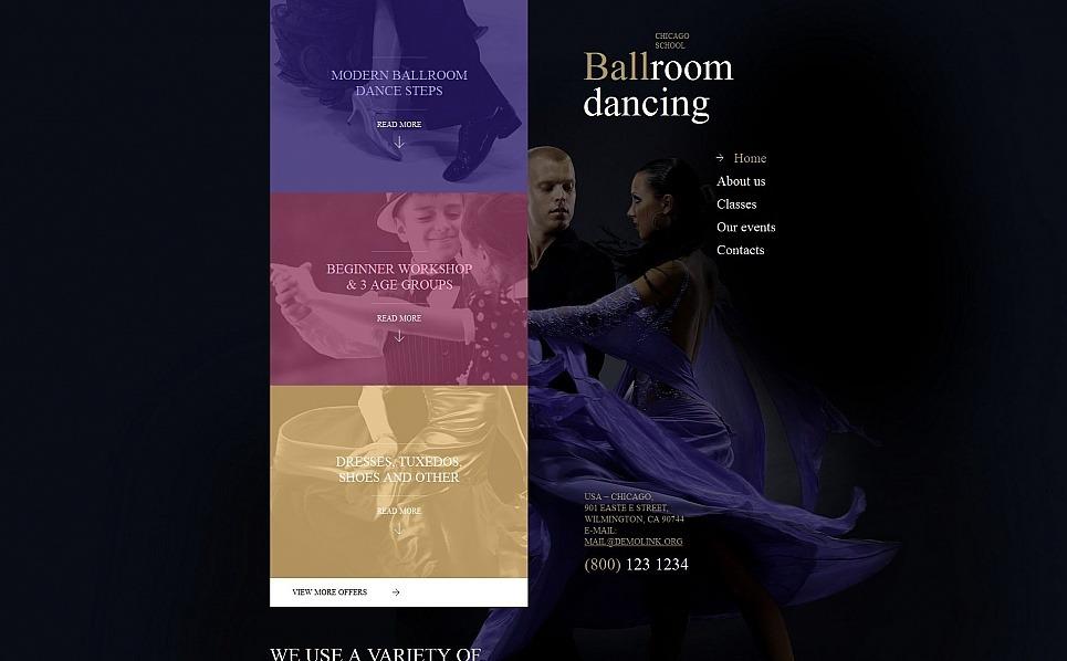 Moto CMS HTML Vorlage für Tanzstudio  New Screenshots BIG