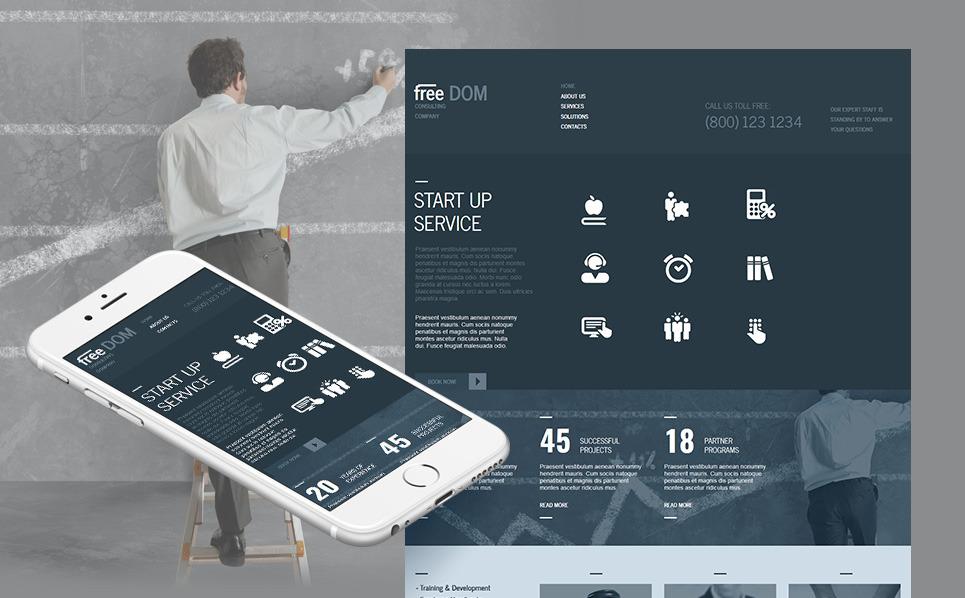 Premium Moto CMS HTML Template over Raadpleging  New Screenshots BIG