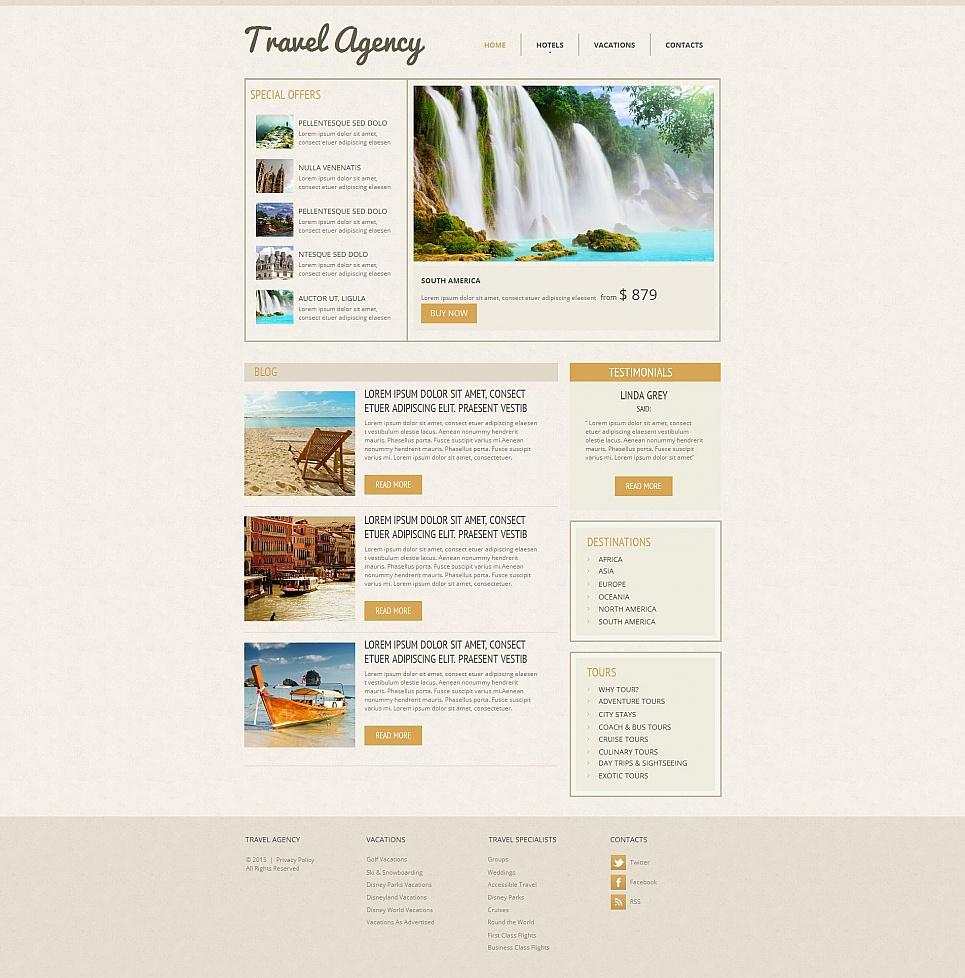 Tourist agency web design