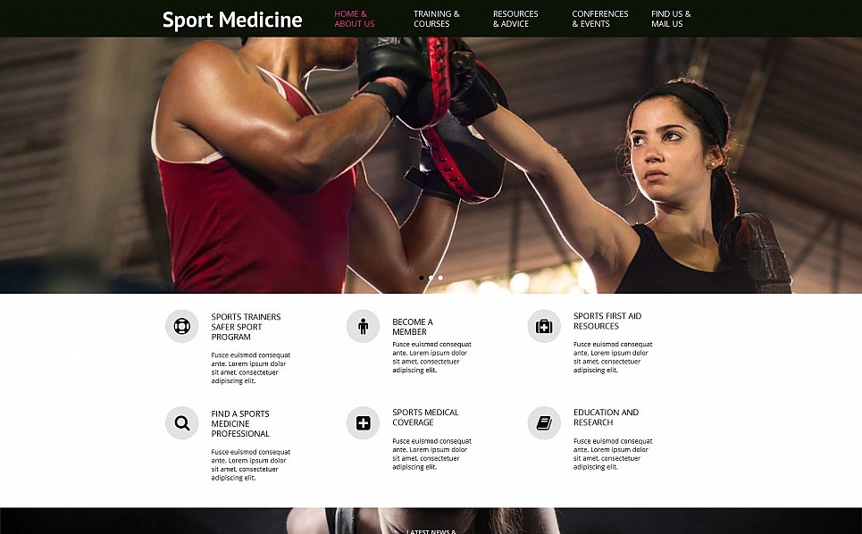 Premium Moto CMS HTML Template over Sport New Screenshots BIG