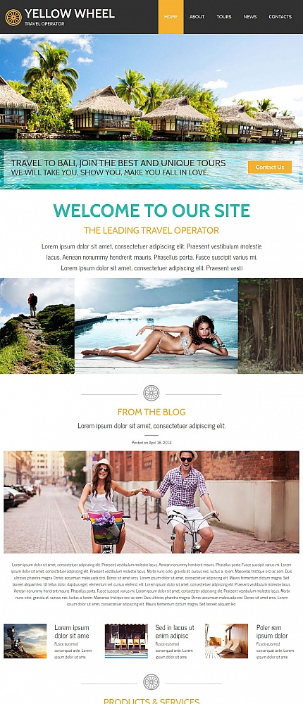 ADOBE Photoshop Template 55312 Home Page Screenshot