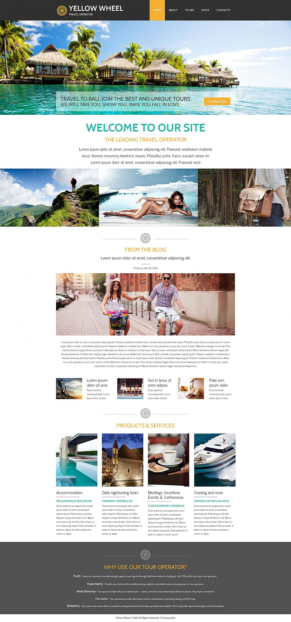 Tourist agency site design