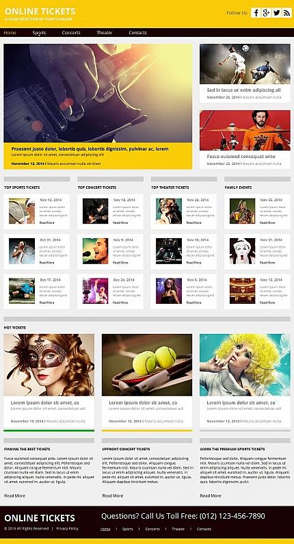 ADOBE Photoshop Template 55313 Home Page Screenshot