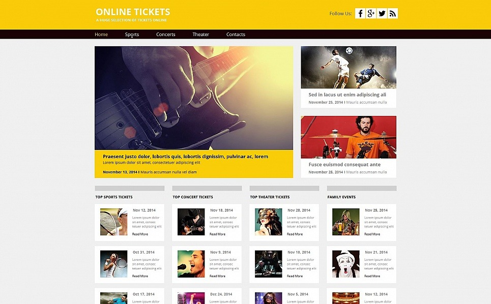 Prémium Jegyek weboldal  Moto CMS HTML sablon New Screenshots BIG