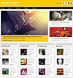Entertainment Moto CMS HTML  Template 55313