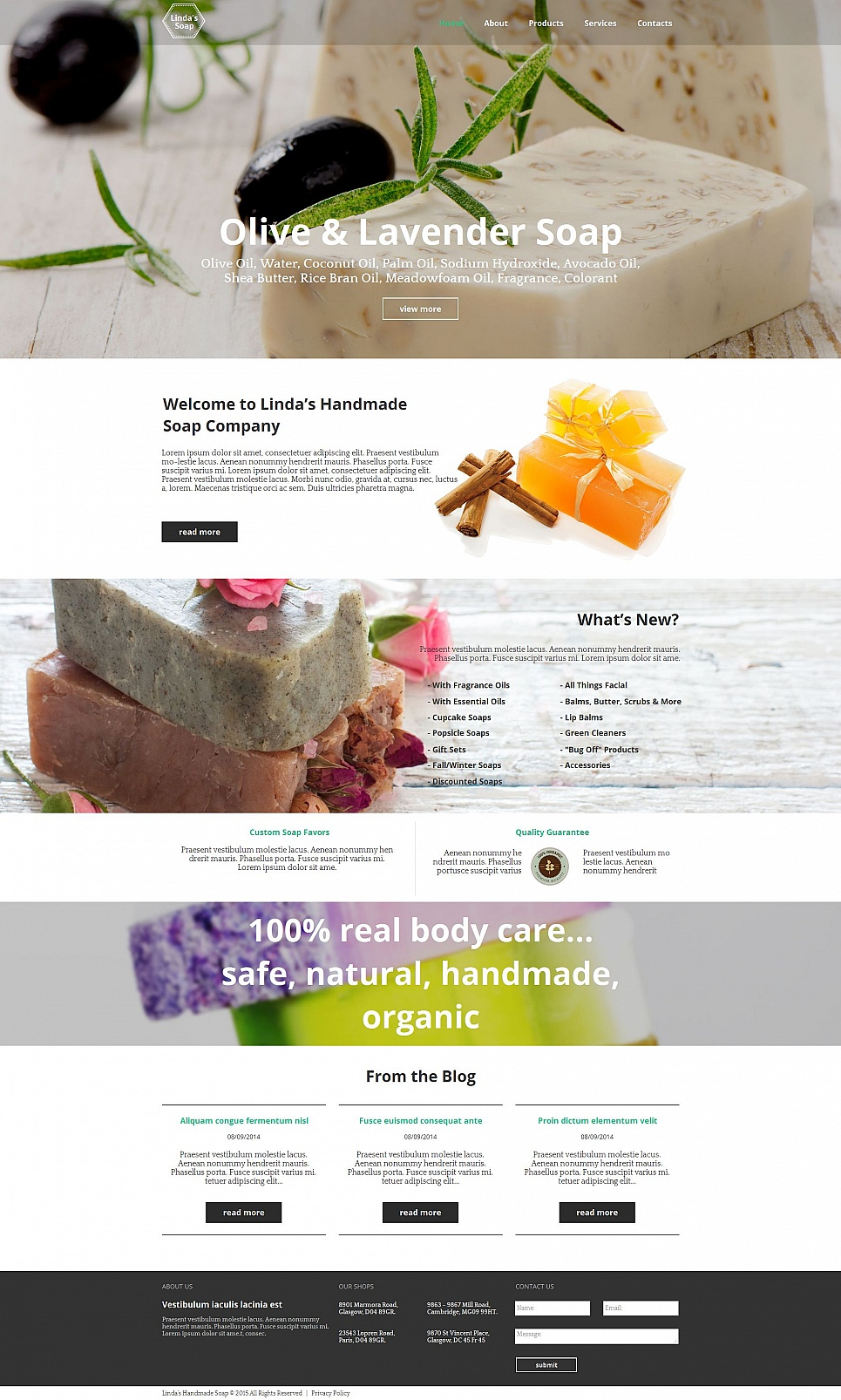 Hygienic products site design