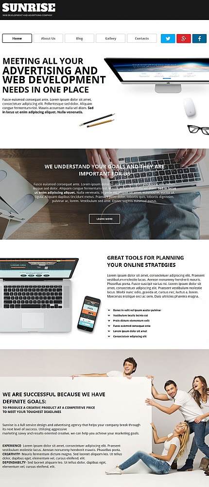 ADOBE Photoshop Template 55315 Home Page Screenshot