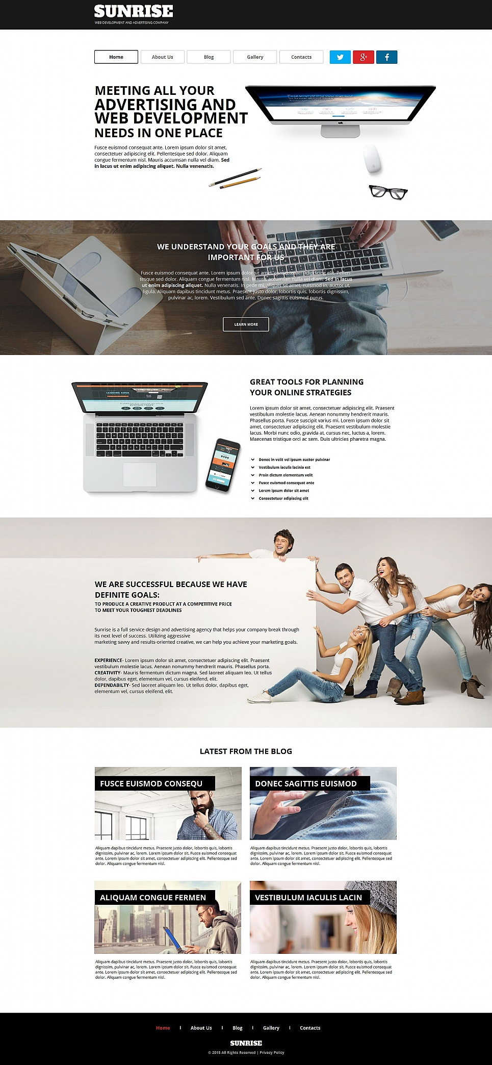 Software company web template