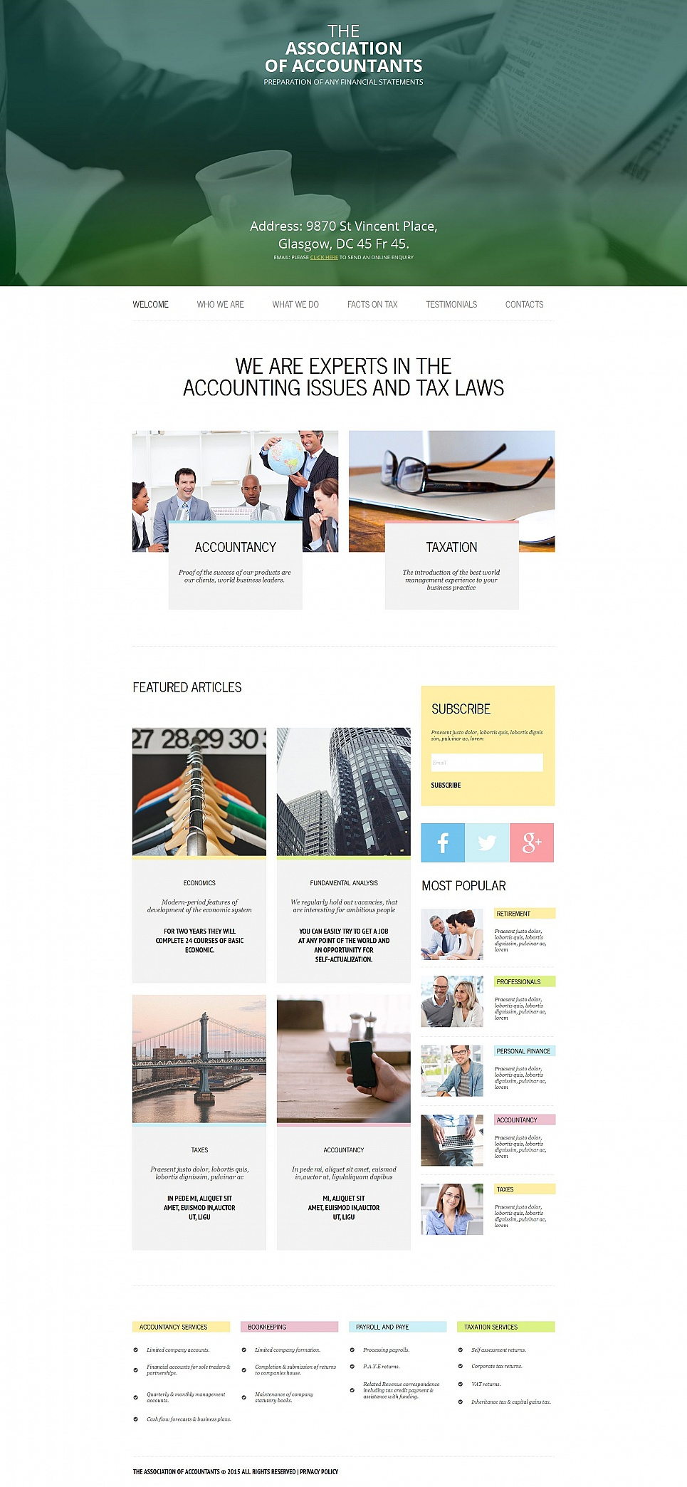 Association of Accountants HTML Website Template - image