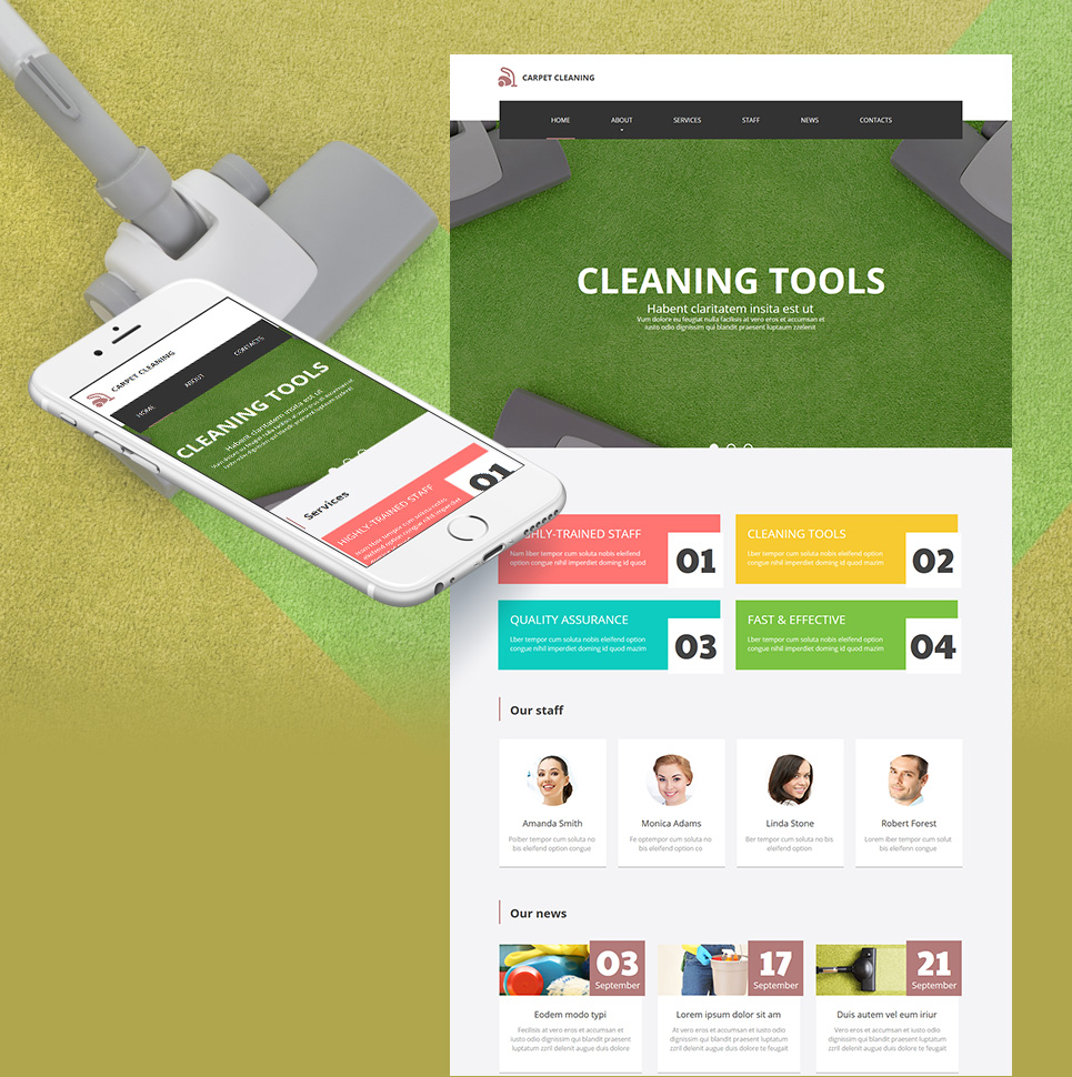 Carpet Cleaning html HTML Website Template - image