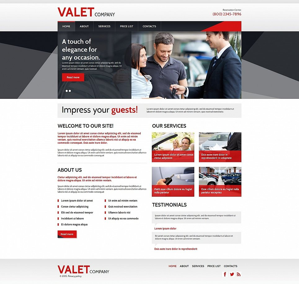 Valet Company HTML Website Template - image