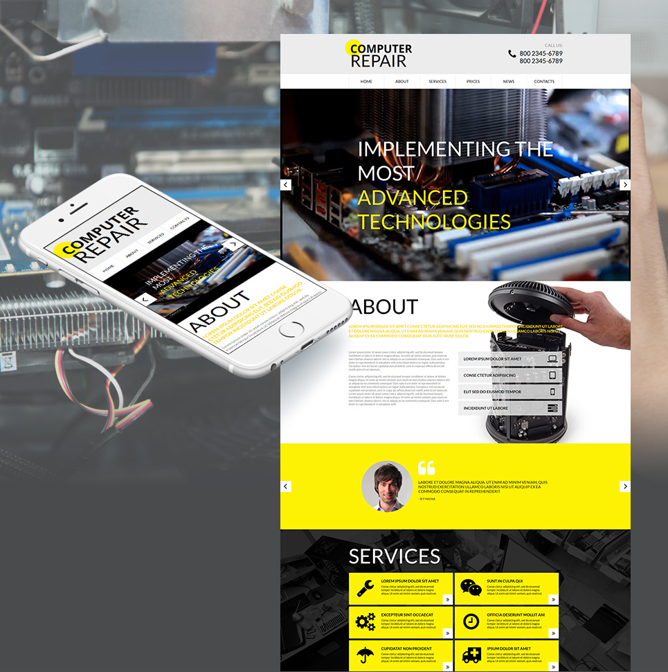 Cyber Computer Repair HTML Website Template - image