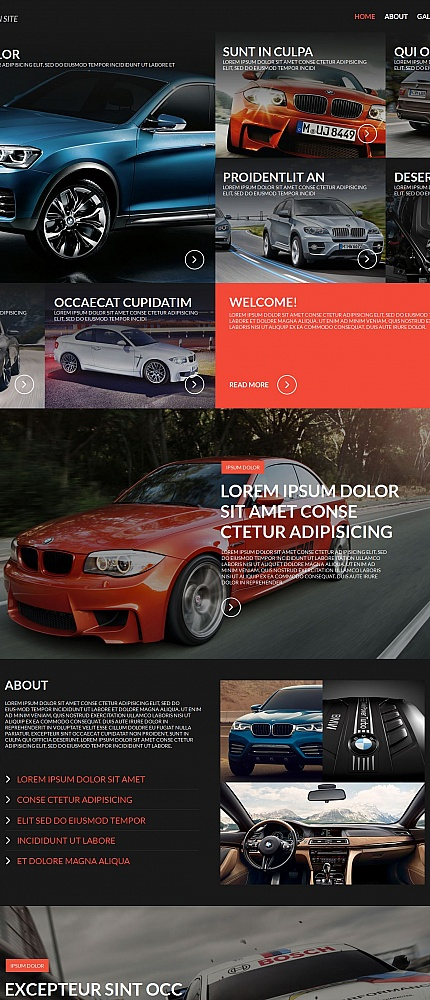 ADOBE Photoshop Template 55324 Home Page Screenshot