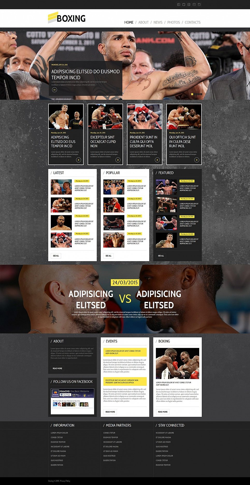 Boxing HTML Website Template - image