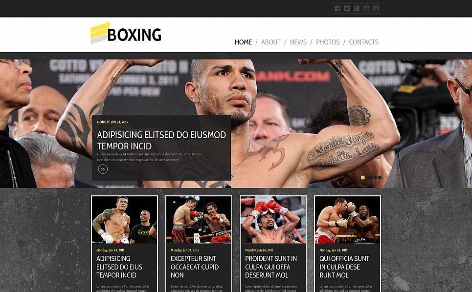 MotoCMS HTML шаблон на тему бокс New Screenshots BIG